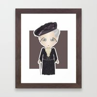 Violet Crawley, Dowager Countess of Grantham Framed Art Print