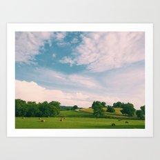 Tennessee Fields Art Print