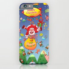 Santa has a Zeppelin to Deliver Christmas Gifts Slim Case iPhone 6s