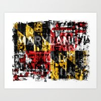 Maryland Flag Print Art Print