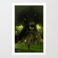 Test thy courage Art Print