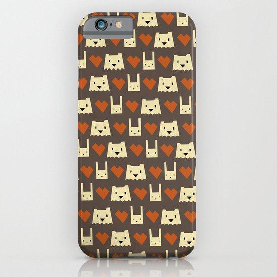 Yeti hearts bunny pattern iPhone & iPod Case