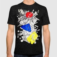 Basics Doodle Mens Fitted Tee Tri-Black SMALL