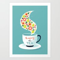 Enjoy The Tea Art Print