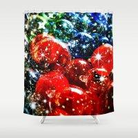 Christmas Sparkles Shower Curtain