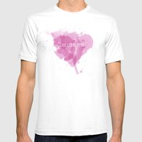 Love Can Be Messy Mens Fitted Tee White SMALL