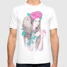 Blossomtime SMALL White Mens Fitted Tee