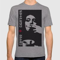 coffee + cigarettes Mens Fitted Tee Athletic Grey SMALL