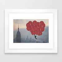 Floating over the City Framed Art Print