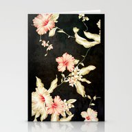 Stationery Cards featuring VINTAGE FLOWERS III - Fo… by Simone Morana Cyla
