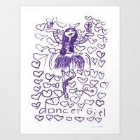Dancer Girl Art Print