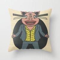 BIG PIG  Throw Pillow