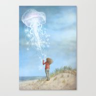 Canvas Print featuring By The Sea by Eric Fan