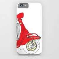 Shiny Red Vespa Scooter iPhone 6 Slim Case