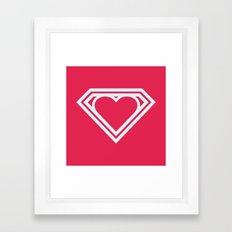 Superlove Framed Art Print