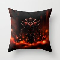 Demon Knight Throw Pillow