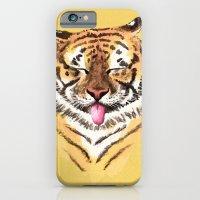iPhone Cases featuring El Tigre by Camila Escat