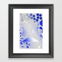 Digitize (White Backgrou… Framed Art Print