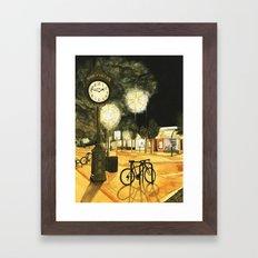 Town Clock Framed Art Print