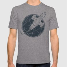 Shining star Mens Fitted Tee Tri-Grey SMALL