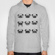 Moustaches Of The Pug Hoody