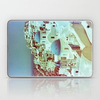 Santorini in Raspberry and Blue: shot using Revolog 600nm special effects film Laptop & iPad Skin