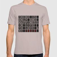 Destination Sign Love Mens Fitted Tee Cinder SMALL