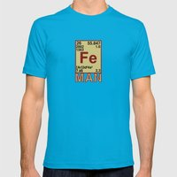 Iron Man Mens Fitted Tee Teal SMALL