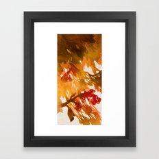Morning Blossoms 2 - Red Variation Framed Art Print