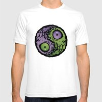 Zombie Yin-Yang Mens Fitted Tee White SMALL