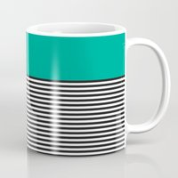 STRIPE COLORBLOCK {EMERALD GREEN} Mug