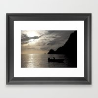 Caribbean Fishing Framed Art Print