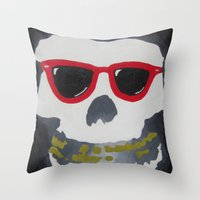 Old Dirty-Crimson Ghost-… Throw Pillow