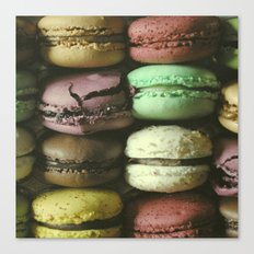 Macarons - Food Kitchen Photography Canvas Print