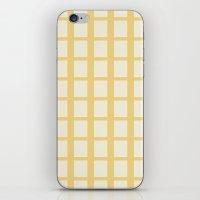Yellow & White  iPhone & iPod Skin