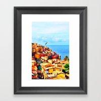 Cinque Terre COLOR Framed Art Print