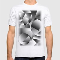 Shapes Mens Fitted Tee Ash Grey SMALL