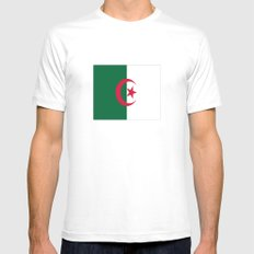 Flag of algeria SMALL Mens Fitted Tee White