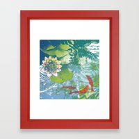 Fish pool  Framed Art Print