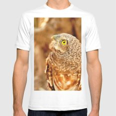 OWL Mens Fitted Tee White SMALL