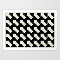 White Arrows Art Print