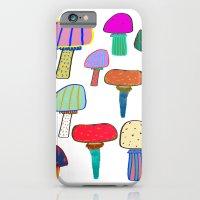 Mushrooms, mushroom print, mushroom art, illustration, design, pattern,  iPhone 6 Slim Case