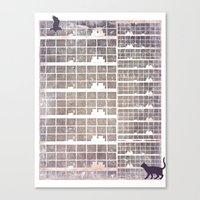 Our building, early in the morning Canvas Print