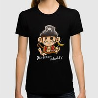 Dangerous Monkey! Womens Fitted Tee Black SMALL