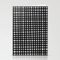 Black Gingham Stationery Cards