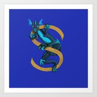 S is for Suiko Animal Alphabet Art Print