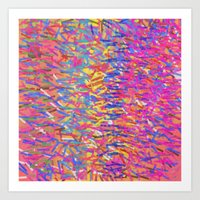 Color Cascade Art Print