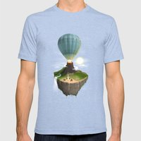 The Great Tropical Escape Mens Fitted Tee Tri-Blue SMALL