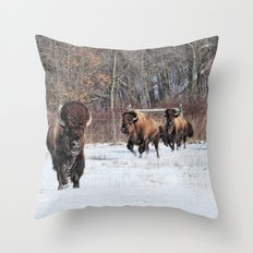 Running Wild Throw Pillow