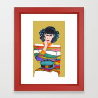 What is she thinking? Framed Art Print